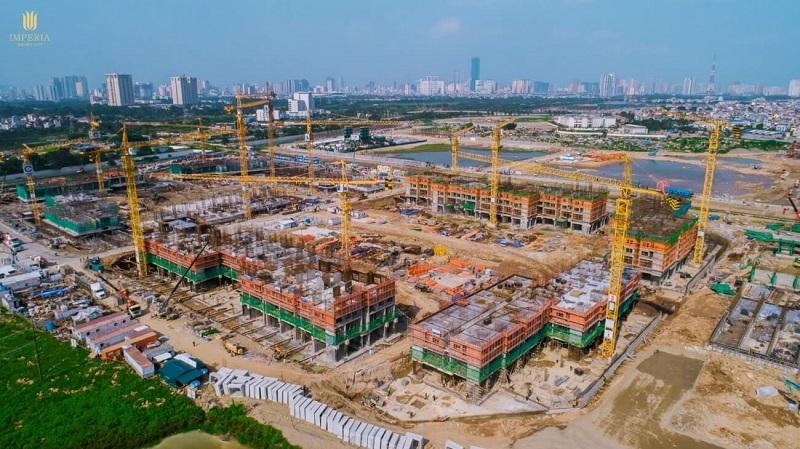 Cập nhật tiến độ xây dựng dự án Imperia Smart City