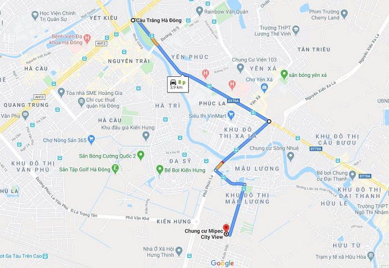 Vị trí dự án Mipec City View Google Map