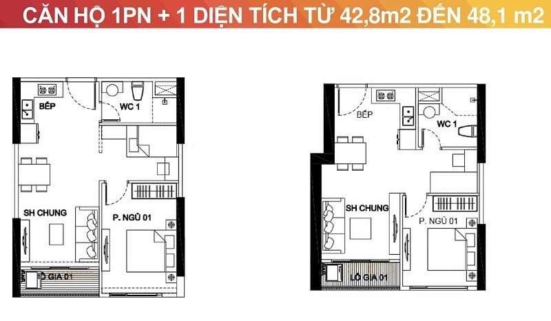 Thiết kế căn hộ 1 ngủ Vinhomes Smart City