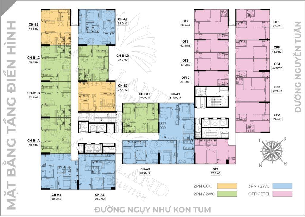 Mặt bằng chung cư DLC Complex