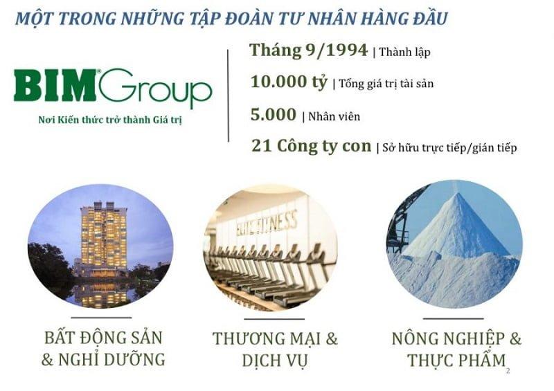 Lịch sử hình thành chủ đầu tư Bim Group