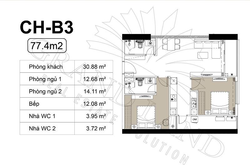 Thiết kế căn hộ chung cư Harmony Square Nhuyễn Tuân 4