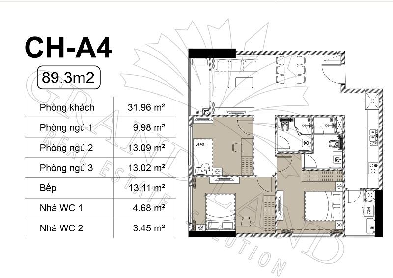 Thiết kế căn hộ chung cư Harmony Square Nhuyễn Tuân 5