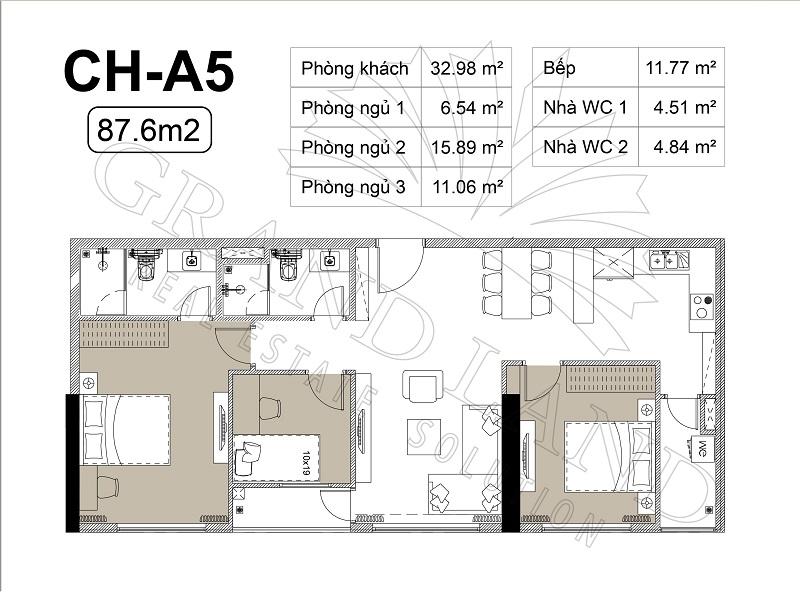 Thiết kế căn hộ chung cư Harmony Square 2