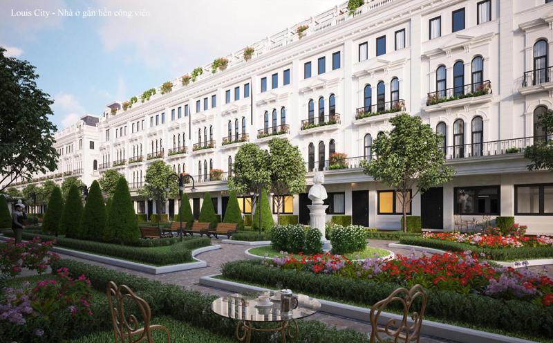 Thiết kế nhà vườn Louis City Tân Mai