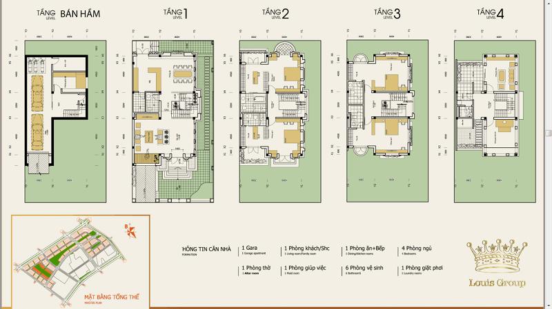 Thiết kế chi tiết biệt thự Louis City Tân Mai