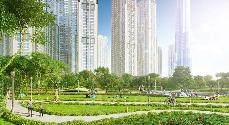 Không gian xanh tại The Manor Central Park Nguyễn Xiển