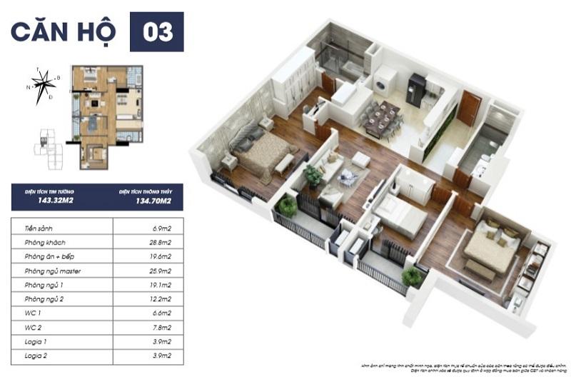 Thiết kế căn hộ 03 tòa S2 TNR Goldmark City
