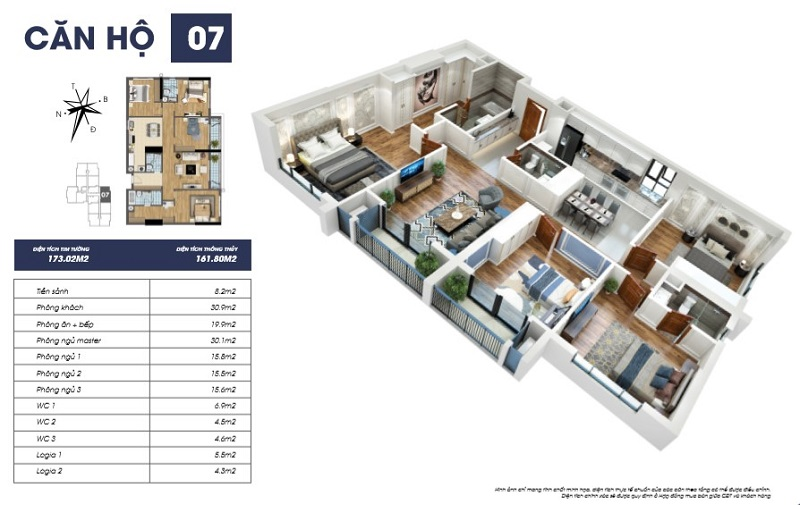 Thiết kế căn hộ 07 tòa S2 TNR Goldmark City