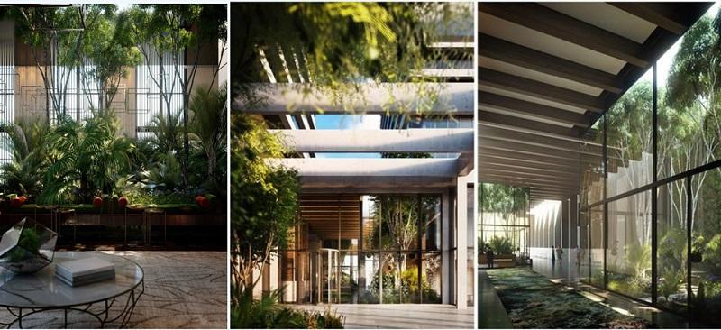 Sảnh chung cư Sol Forest Ecopark