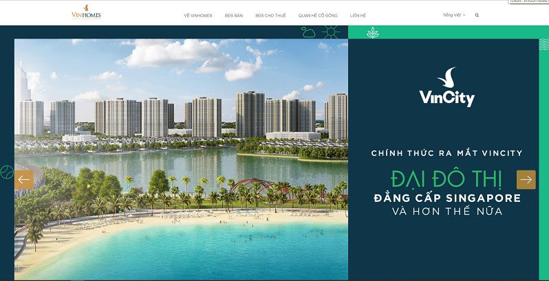 Mẫu thiết kế web Landingpage bất động sản 10