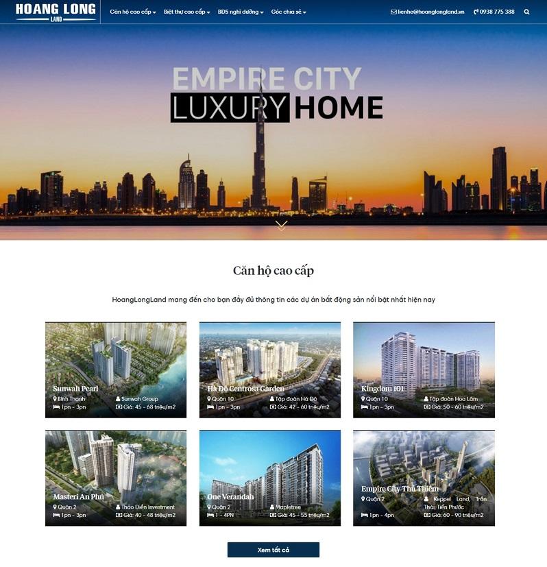 Mẫu trang web tổng bất động sản 4