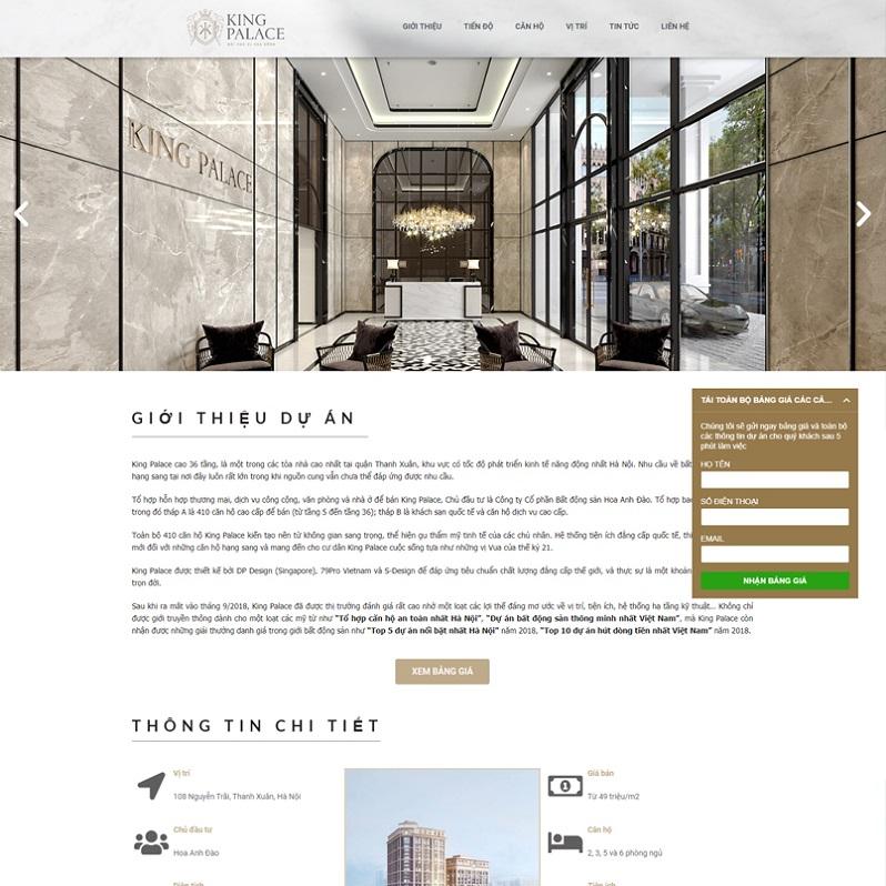 Mẫu thiết kế Landingpage bất động sản 6