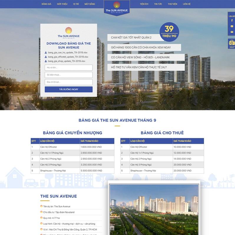 Mẫu thiết kế Landingpage bất động sản 7