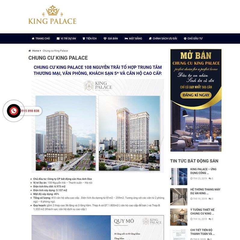 Mẫu web bất động sản 9