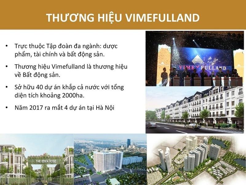 Lĩnh vực hoạt động của Vimefulland