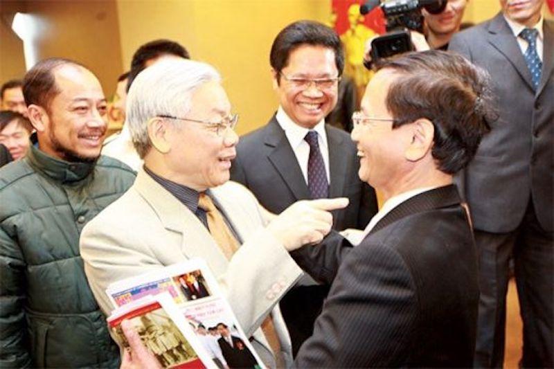 Chủ tịch nước Nguyễn Phú Trọng và Chủ tịch tập đoàn Geleximco