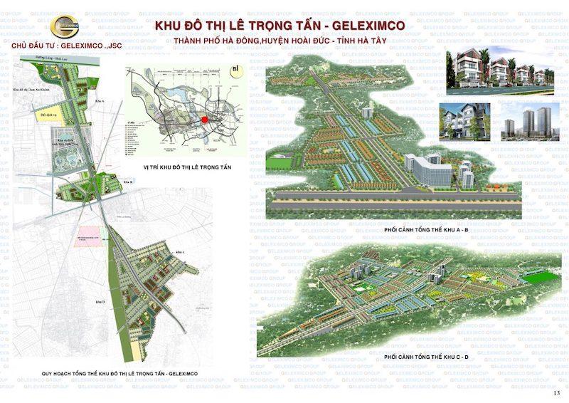 Quy hoạch khu đô thị Lê Trọng Tấn - Geleximco