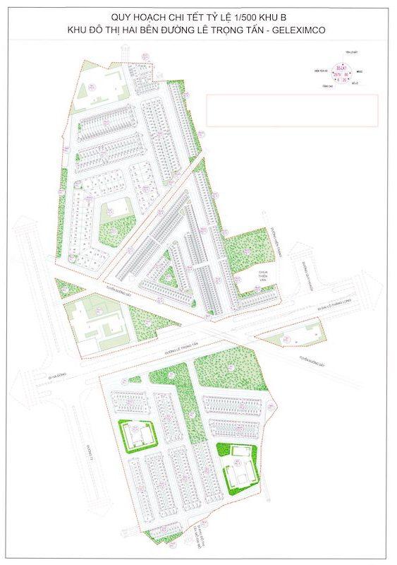Quy hoạch khu B dự án Geleximco Lê Trọng Tấn