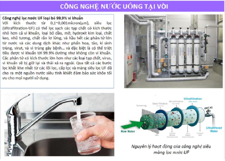 Công nghệ uống nước tại vòi của Vimedimex