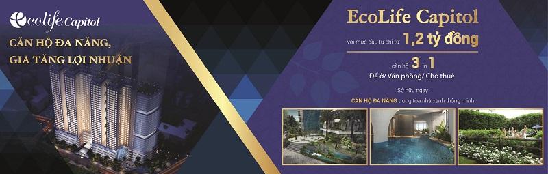 Officetel Ecolife Capitol với mức giá đầu tư chỉ 1.2 tỷ/căn