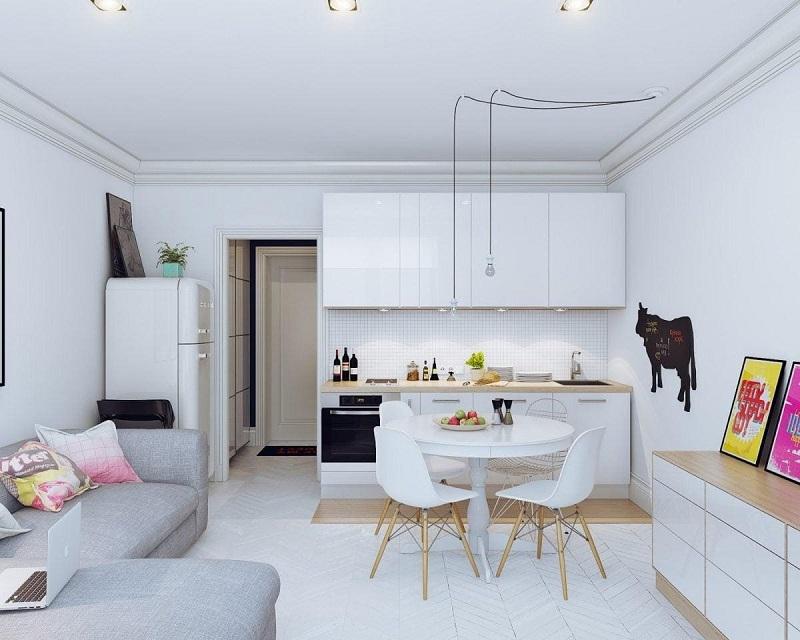 Mẫu thiết kế căn hộ Studio đẹp 1