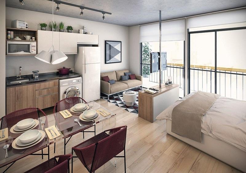 Mẫu thiết kế căn hộ Studio đẹp 2