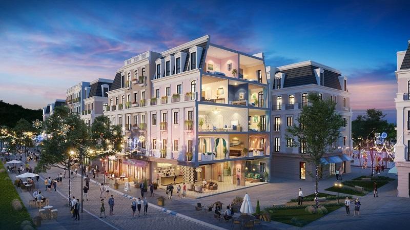 Mẫu thiết kế nhà phố thương mại Shophouse đẹp 1