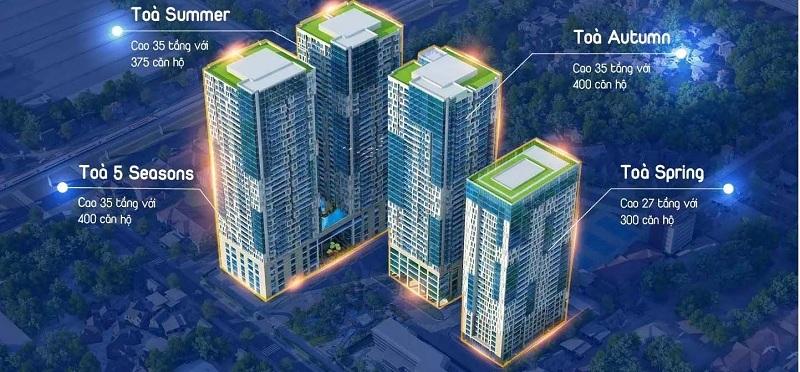 Mặt bằng tổng thể dự án TNR GoldSeason Nguyễn Tuân