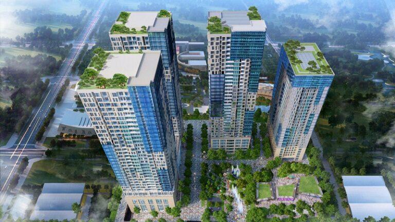 Chung cư TNR GoldSeason gồm 4 tòa tháp cao 27 - 35 tầng