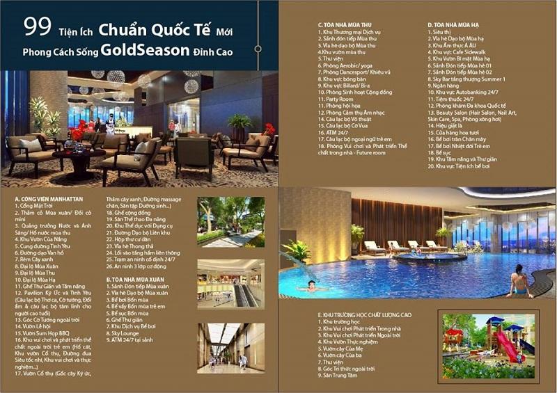 Mặt bằng tiện ích chung cư TNR GoldSeason Nguyễn Tuân