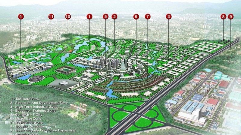 Siêu đô thị vệ tinh Hòa Lạc của Geleximco chuẩn bị được triển khai