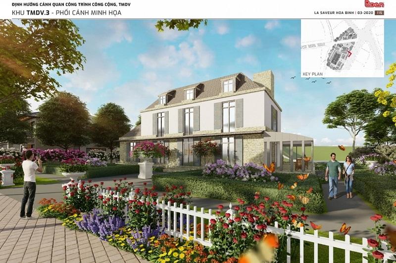 Mẫu thiết kế biệt thự nghỉ dưỡng La Saveur Hòa Bình