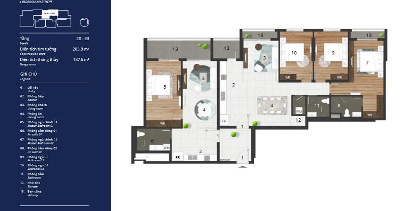 Mẫu căn hộ Dual Key được khách hàng Hà Nội và TPHCM yêu thích
