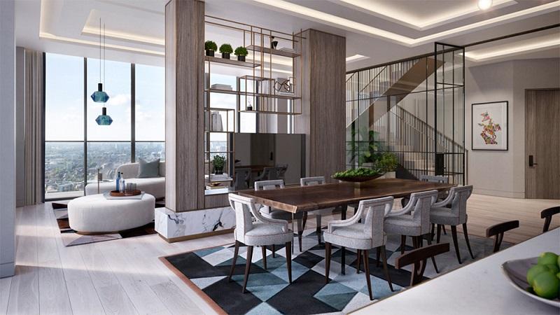 Mẫu thiết kế nội thất căn hộ Penthouse đẹp và đẳng cấp