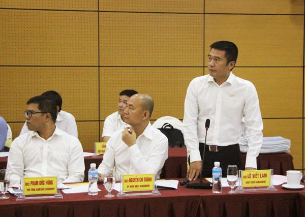 Chủ tịch HĐQT Tập đoàn Sun Group Lê Viết Lam báo cáo tiến độ các dự án.