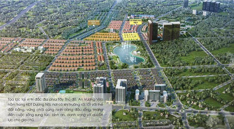 Dự án An Vượng Villa tại khu đô thị Dương Nội của tập đoàn Nam Cường