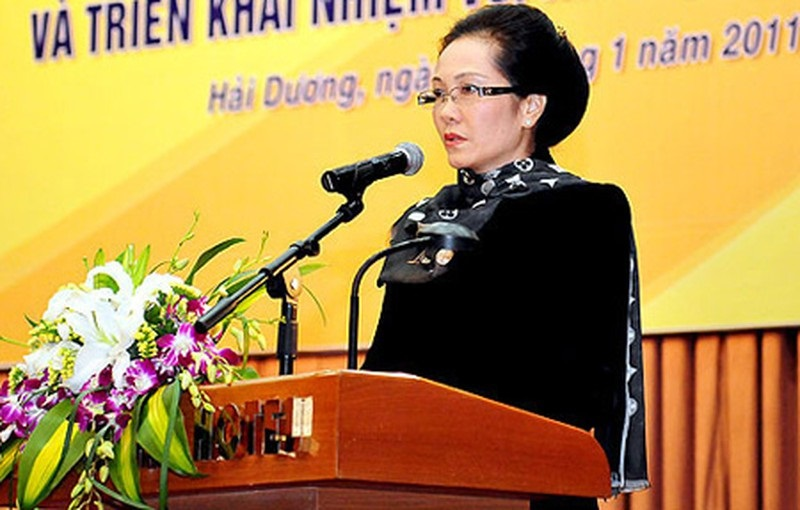 Chủ tịch tập đoàn Nam Cường - Bà Lê Thị Thúy Ngà (Vợ ông Cường)