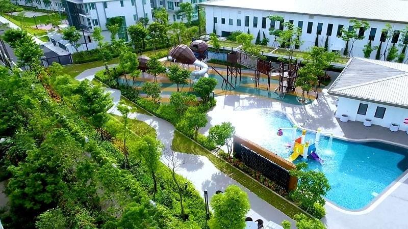 Không gian sống xanh và trong lành tại Park City
