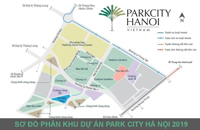 Sở đồ phân khu Parkcity Hanoi