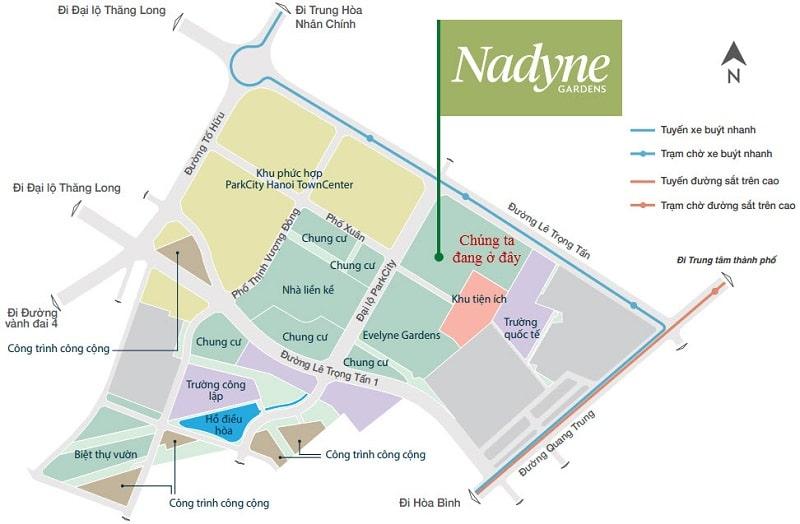 Vị trí tiểu khu Nadyne Gardens Park City