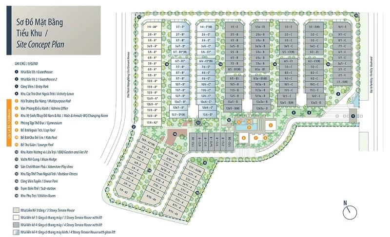Mặt bằng thiết kế Tiểu khu Mansions - Parkcity Hà Nội