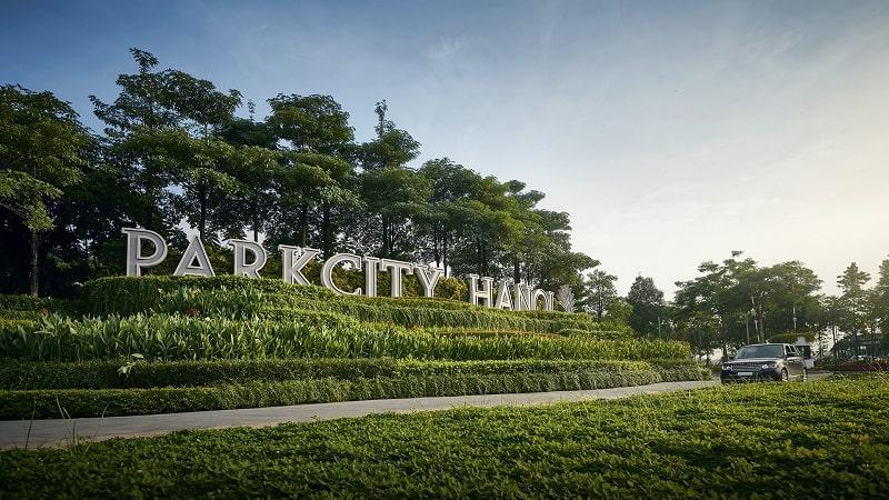 Hình ảnh thực tế chụp cổng vào dự án Park City Hanoi