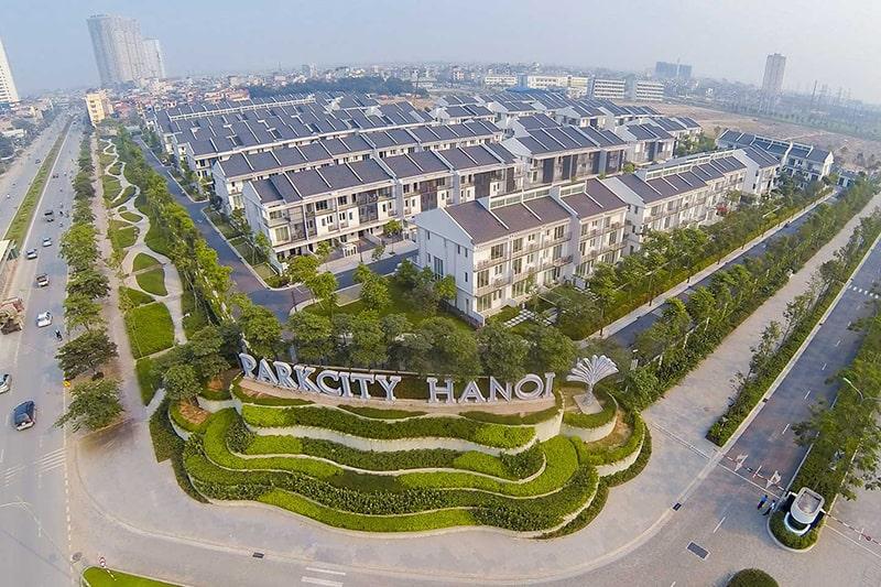 Ảnh 1: Tiến độ xây dựng dự án khu đô thị Park City Hà Đông