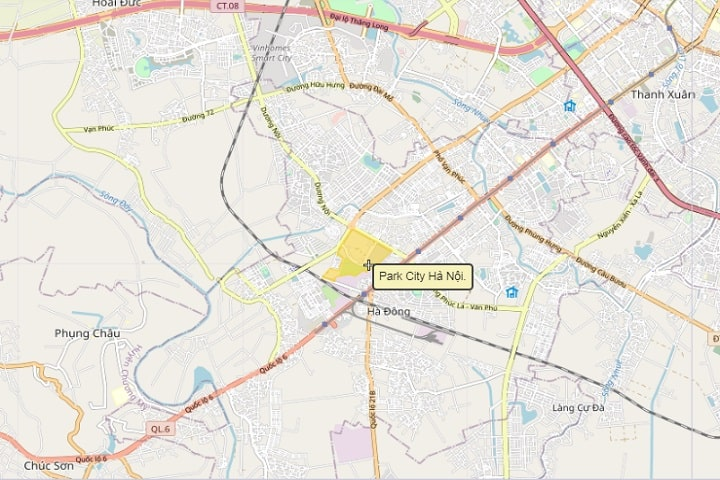 Park City Hanoi Google Map