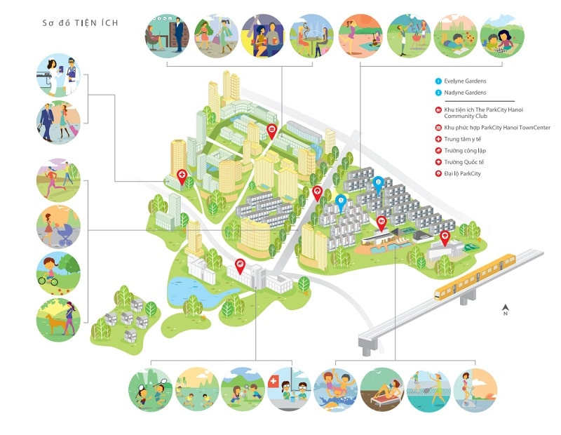 Danh sách tiện ích bên trong khu đô thị Park City Hà Đông