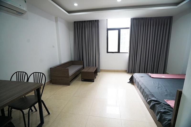 Chung cư mini 20 Nguyễn Văn Huyên cho thuê có cả Giường tủ, sofa, bàn ăn
