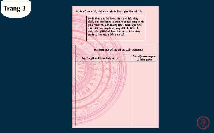 Trang số 3 cuốn sổ đỏ
