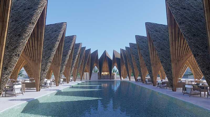 Bể bơi tại Ivory Villa & Resort Hòa Bình