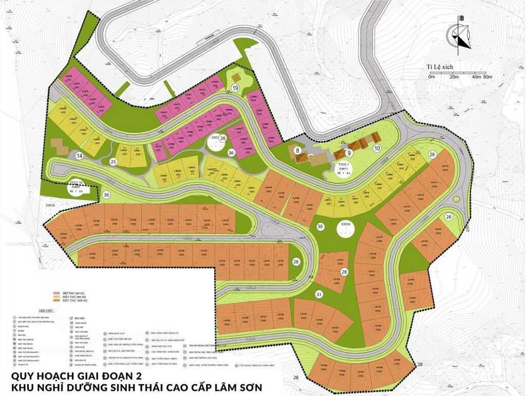 Bản đồ quy hoạch giai đoạn 2 khu nghỉ dưỡng sinh thái cao cấp Lâm Sơn